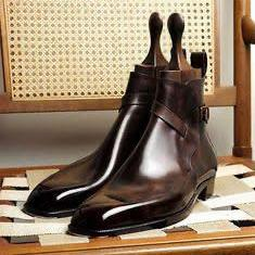 Handmade High ankle Jodhpur Boots For Men, Brown Jodhpur cowhide leather boots
