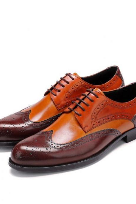 Handmade high quality multi color cowhide leather men's oxford shoes, formal shoes, men shoes
