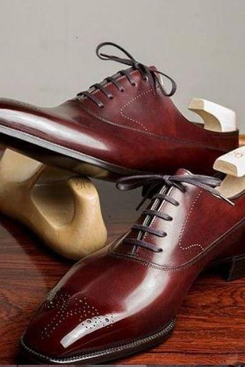 Handmade high quality cowhide leather men's oxford shoes, formal shoes, men shoe