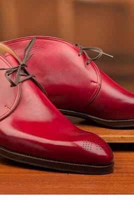 Red Chukka Lace Up Available For Mens