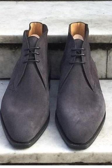 Mens Chukka in Black Suede Awesome Looks Available